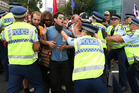 TPP protesters block Auckland