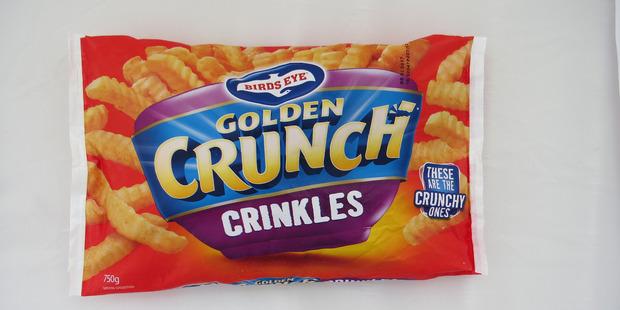 Birds Eye Golden Crunch Crinkles. $3.50 for 750g. Photo / Supplied