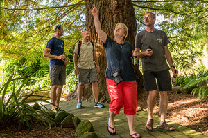 International race directors Michel and Catherine Poletti check out the Rotorua sights as part of their visit to see the Tarawera Ultramarathon. Photo / Kurt Matthews