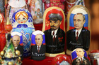 Souvenir matryoshka dolls are likely to be a more popular seller than Russian state companies. Photo / Bloomberg
