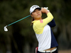 Lydia Ko had a share of the lead in Florida yesterday before weather forced the suspension of play. Photo / Getty Images