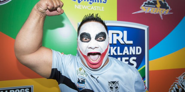 The Mt. Smart Joker at the event for the Downer NRL Auckland Nines at Aotea Square. Photo / Nick Reed