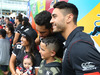 Shaun Johnson was happy to oblige as supporters queued for selfies with the Warriors captain at the Nines Fan Day yesterday. Photo / Nick Reed