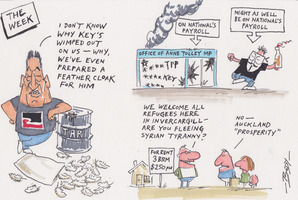 Cartoon: Waitangi, TPP, House prices