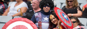 Fans during the Round 1 match between the NZ Warriors and the Bulldogs, at the 2016 NRL Downer Auckland Nines, held at Eden Park. Photo / Brett Phibbs
