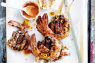 Recipe: Chorizo and prawn skewers with piri piri sauce