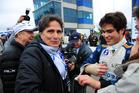 Pedro Piquet with his father Nelson Piquet. Photo / Duda Bairros
