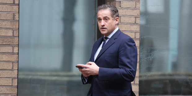 Grant Harrison arrives at Southwark Crown Court. Photo / Bloomberg