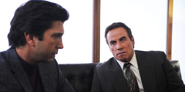 David Schwimmer is Robert Kardashian and John Travolta is Robert Shapiro in the series. Photo / FX