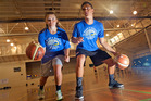 NZ under-16 basketball reps Briarley Rogers (left) and Shalom Broughton are looking forward to the National Maori Basketball Tournament that begins in Rotorua tomorrow. Photo / Andrew Warner