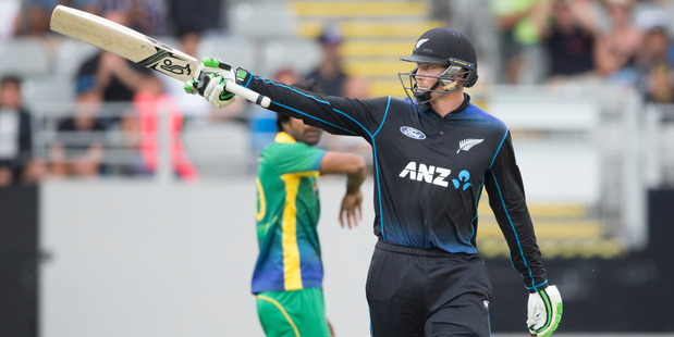 Martin Guptill admits he has no idea how the Duckworth Lewis system works but conceded it worked to New Zealand's advantage at Eden Park yesterday. Photo / Greg Bowker