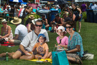 Rotorua Summer Seafood Festival at the Village Green on Saturday. Wilce family, (left to right) James, Jordan, 4, Ella, 6, Joanna. PHOTO/BEN FRASER