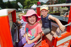 A&P Show. (Left to right) Emma Fisken, 2, Lucy Fisken, 4, Brennan Otten, 6. PHOTO/BEN FRASER