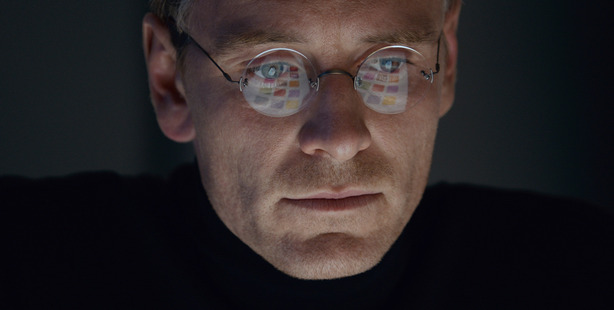 Michael Fassbender stars as Steve Jobs in a scene from the film, Steve Jobs.
