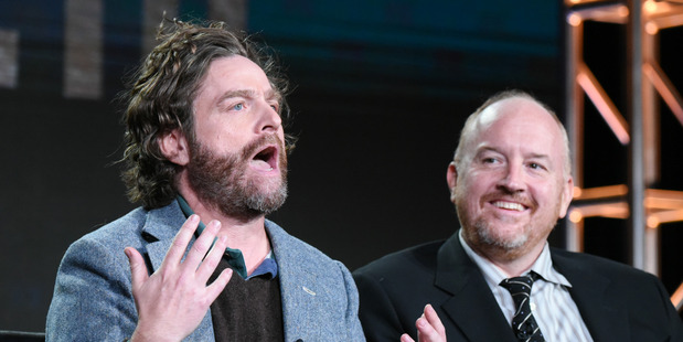 Zach Galifianakis and his mentor on Baskets, Louis C.K. (AP)