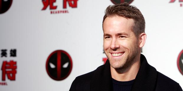 Canadian actor Ryan Reynolds. Photo / AP