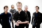 The National, with Bryan Devendorf (second left) and Scott Devendorf (fourth from left) of LNZNDRF.