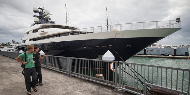 The superyacht Equanimity. Photo / Jason Oxenham