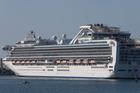 The Diamond Princess in Tauranga Harbour last October. Photo / John Borren