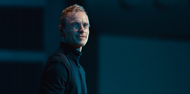 Michael Fassbender as Steve Jobs in the 2015 movie Steve Jobs.