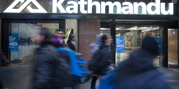 Kathmandu dropped 4.9 per cent to $1.55. Photo / Nick Reed