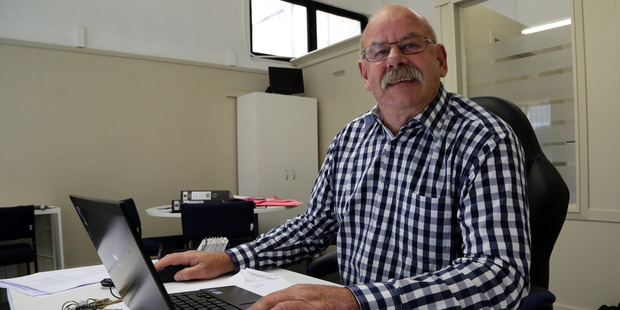 OCC Ltd Graeme Musson 13 Jan 2016 Wanganui Chronicle Photograph by Stuart Munro WGP 20Jan16 - NEW RECRUIT: Graeme Musson is back in the labour pool, finding work and workers for