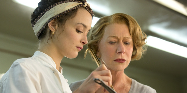 Charlotte Le Bon and Helen Mirren in the film, The Hundred Foot Journey.