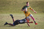 Mount Maunganui's Jessie Dodunski in full stride against Rangataua in last November's final of the Bay of Plenty Baywide Club Sevens tournament.