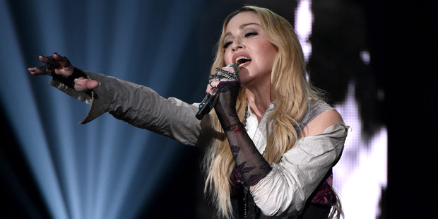 Madonna is coming to NZ in March. She briefly dated Prince in 1985. Photo / AP