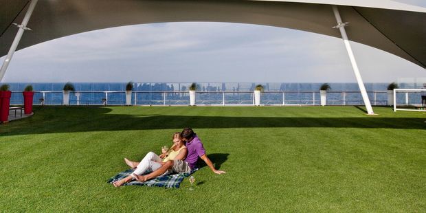 Lawn on the Celebrity Solstice.