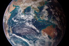 Apparently this shot of Earth from space has been faked by the conspirators at NASA.
