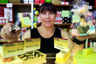 SWEET TREAT: Sharlene Millar displays just some of Thistle's fudge flavours, which she and her staff and family create.