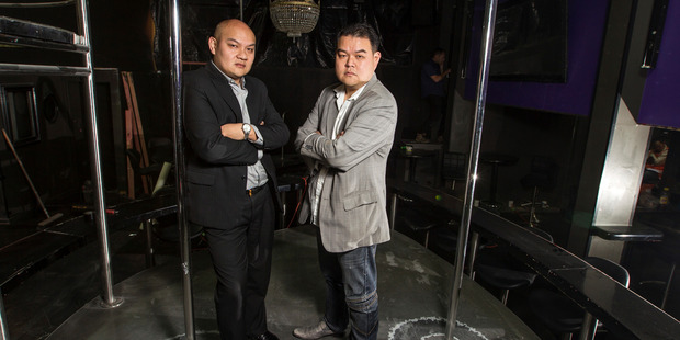 Strip club owners and property developers Michael Chow (left) and John Chow. Photo / NZME