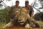 Walter Palmer (left), a US dentist, caused an uproar after killing Cecil the lion on a hunt in Zimbabwe last year. File Photo / Supplied.
