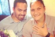 Valerie Adams and her fiance Gabriel Price. Photo / Twitter