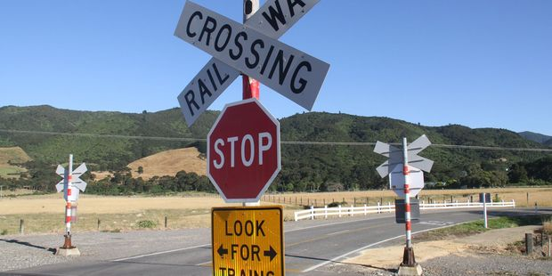 The uncontrolled railway crossing at Western Lake Rd where a driver struck a train. PHOTO/ANDREW BONALLACK