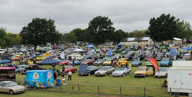 The oval at the A&P Showgrounds was packed with more than 450 vehicles for Sunday's event.
