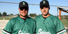 Jacob Zurcher (left) and Adam Woon are the latest Hawke's Bay softballers to gain Junior Black Sox selection. Photo / Paul Taylor