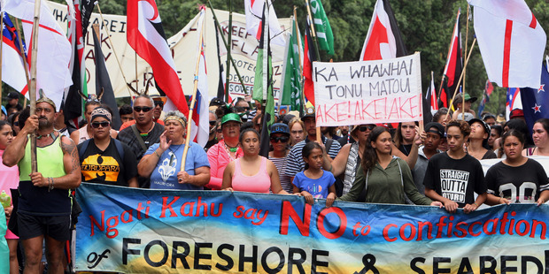 While the TPP was the main theme of this year's Waitangi hikoi, protesters took the opportunity to spread other messages. PHOTO/JOHN STONE