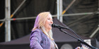 PERFORMING: Melissa Etheridge entertains the crowd. PICTURE/SUPPLIED