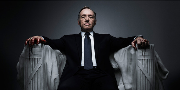 Kevin Spacey, star of the Netflix TV drama House of Cards. Photo / Supplied