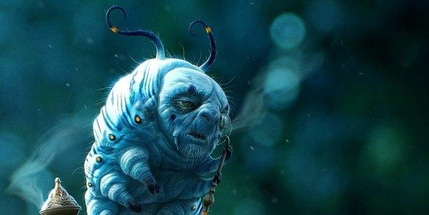 The Blue Caterpillar in Alice In Wonderland.