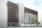 Big car park and retail building for Christchurch