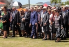 Politicians are welcomed on to the marae at Ratana last weekend. Photo / Wanganui Chronicle