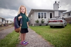 Harlow Stapleton is all set for her first day at Greenpark School tomorrow. Photo / Andrew Warner