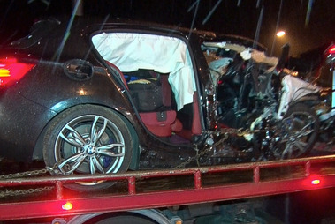 Two men were killed when three vehicles collided in Waikato last night. Photo / Daniel Hines