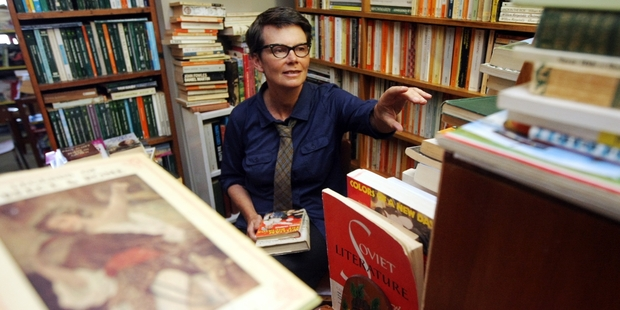 Hastings' the Little Red Bookshop might not get huge numbers of customers, but owner Siobhan McCormack says those who do pop in spend a lot. Photo / Paul Taylor