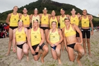 The Mount Maunganui under-19 taplin teams finished first and second in an outstanding display at the Eastern Regional surf lifesaving championships. Photo / Jamie Troughton/Dscribe Media Services