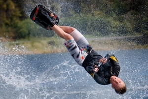 Water skiing at Kai Iwi Lakes will end if a ban on powerboats on the lake is implemented.