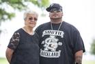 Hip-hop star Savage and Rose Whaiapu, chairperson of Toi O Manukau